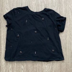 Trendy black Lush top